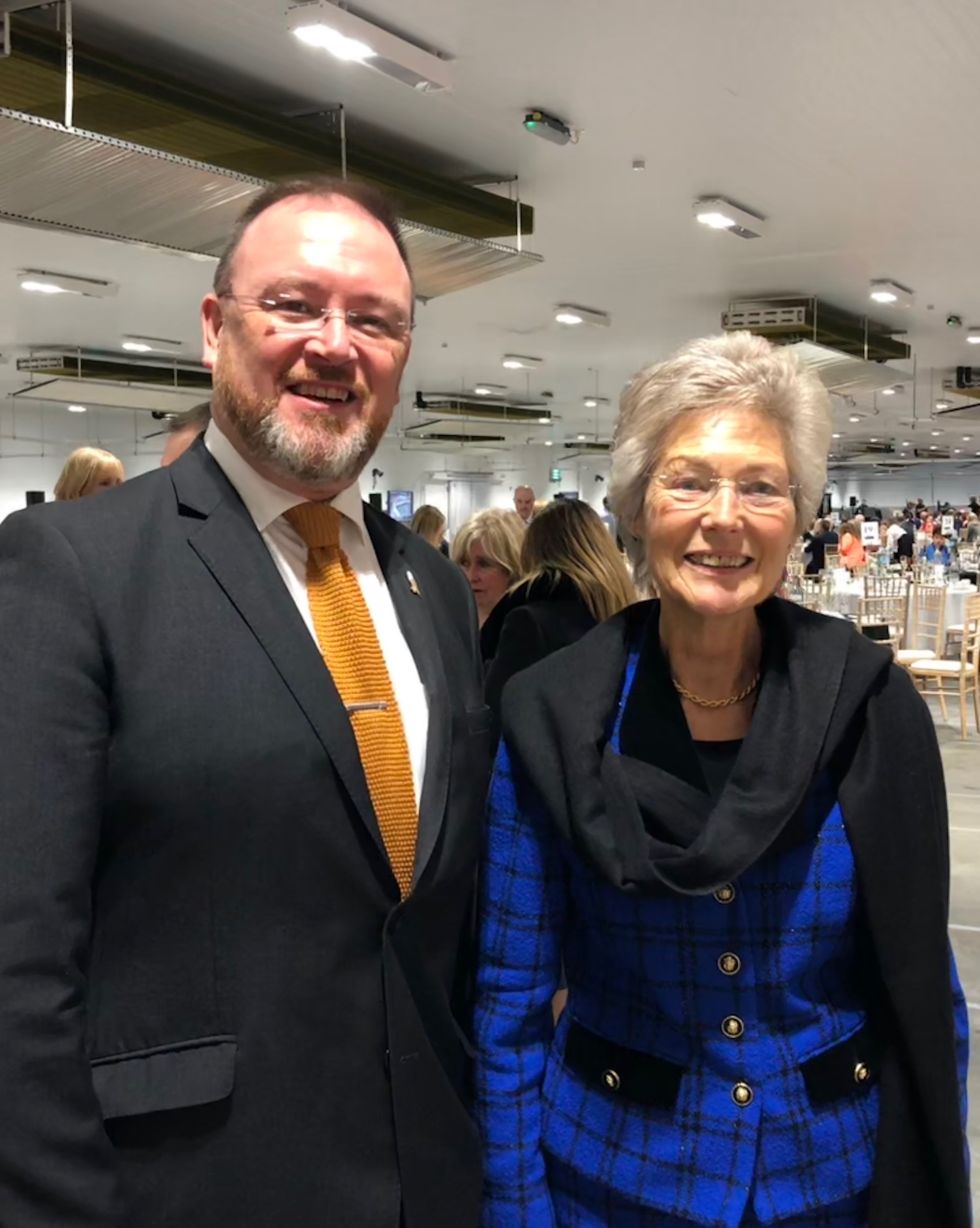 David Duguid MP with Lady McQuarrie at the opening of the new Peterhead fish market earlier this year