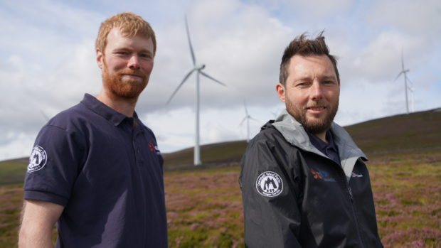 Stephen Reeves and Mark Johnstone have been appointed countryside rangers at the Dorenell wind farm on the Glenfiddich Estate.