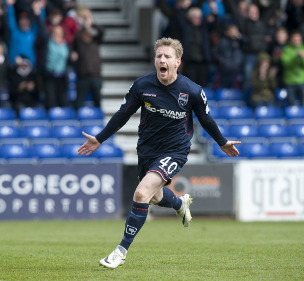 Ross County v Hamilton Accies SPFL Premier League Michael Gardyne celebrates after he scores Ross County opening goal