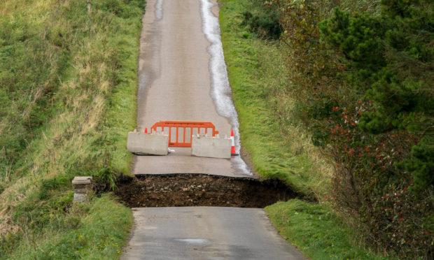 A number of bridges in Aberdeenshire were badly damaged.