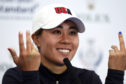 Team USA's Danielle Kang during a press conference on preview day three of the 2019 Solheim Cup at Gleneagles Golf Club.