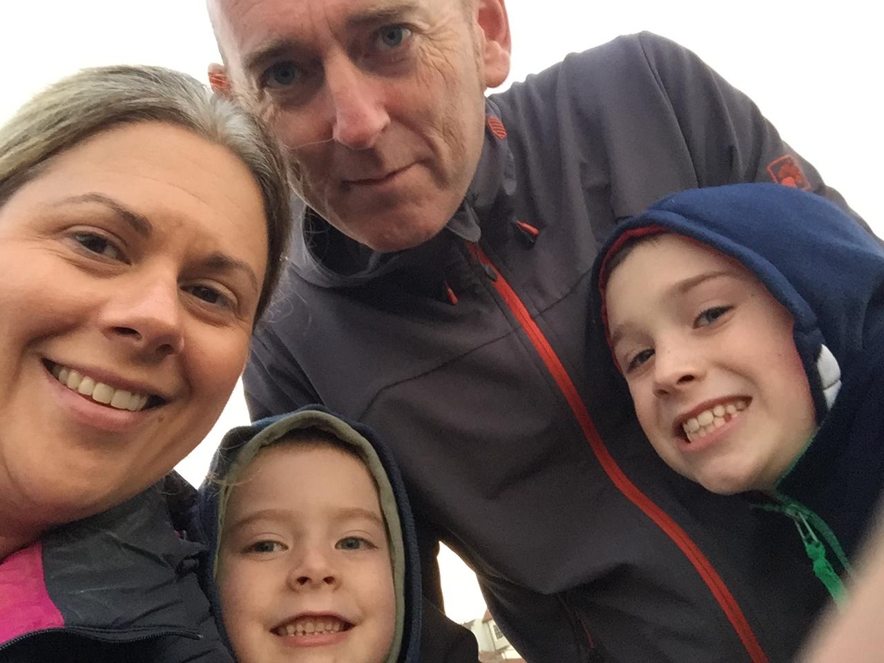 The Gallacher family (L-R Alison, Conor, Kevin, Daniel)