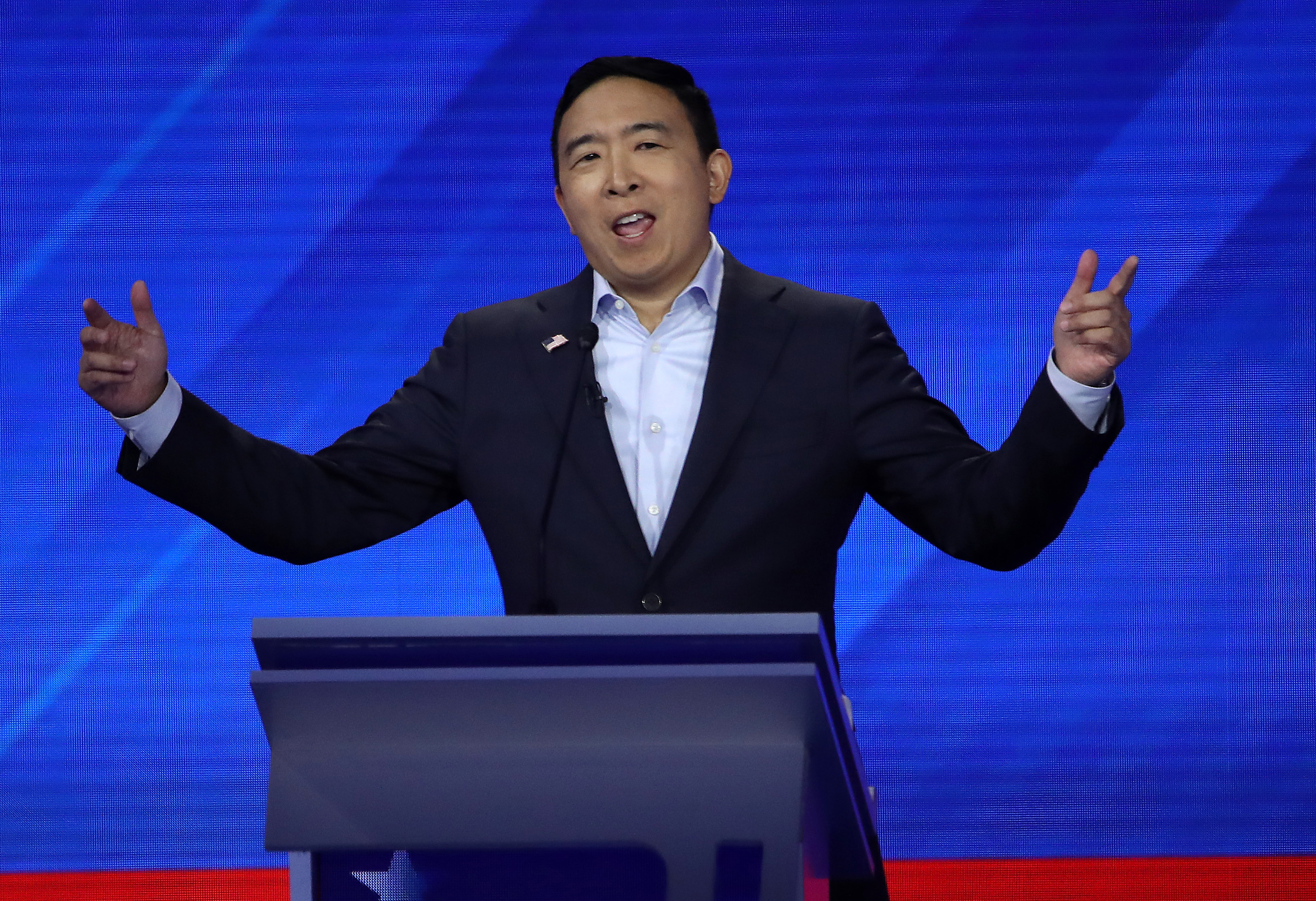 Democratic presidential candidate former tech executive Andrew Yang