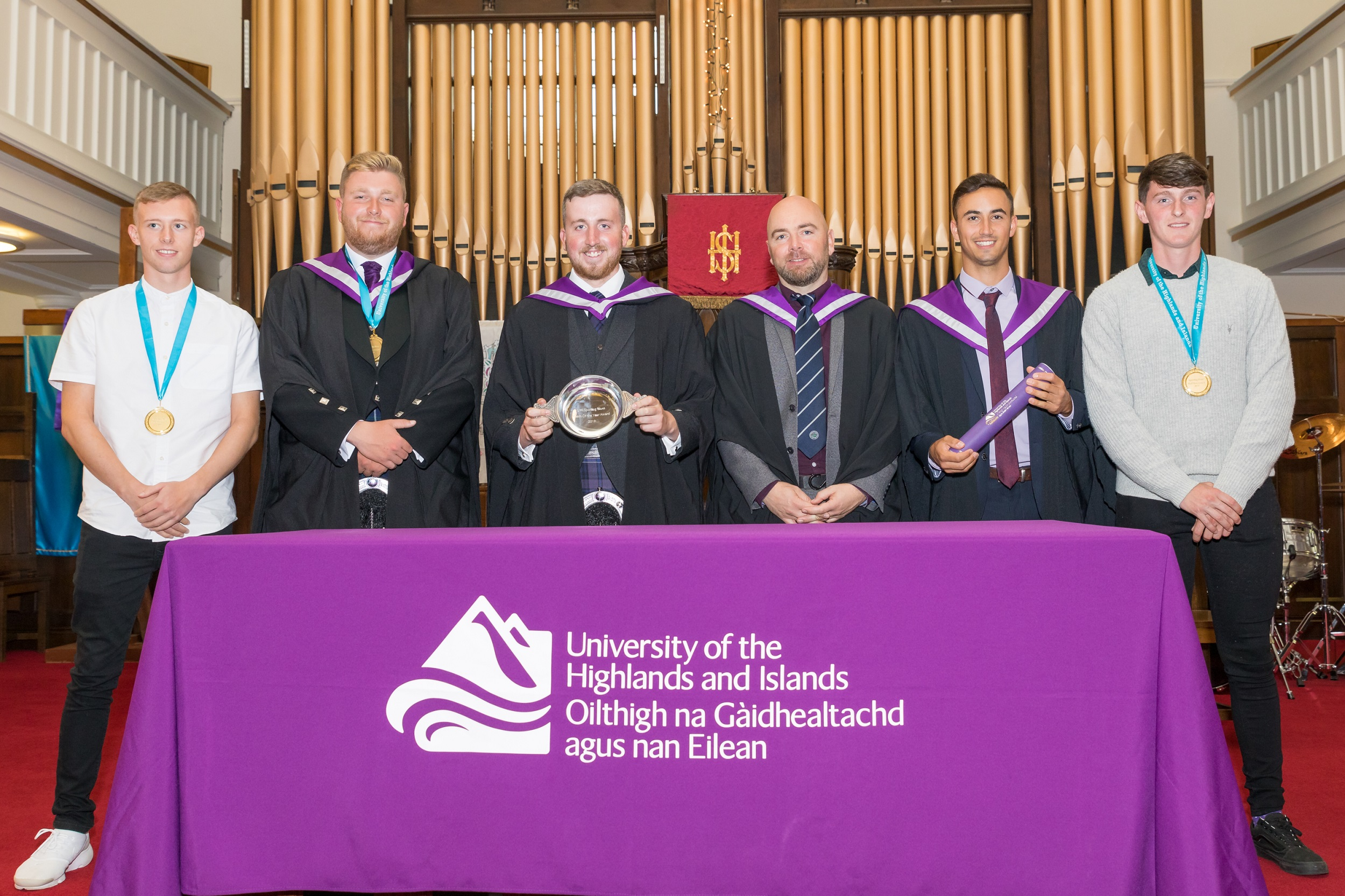 Image (left to right) Lewis Johnson, Graham Minton, Alistair Mcnaughton, Alan Fleming, Riccardo Cellerino, John Oster.