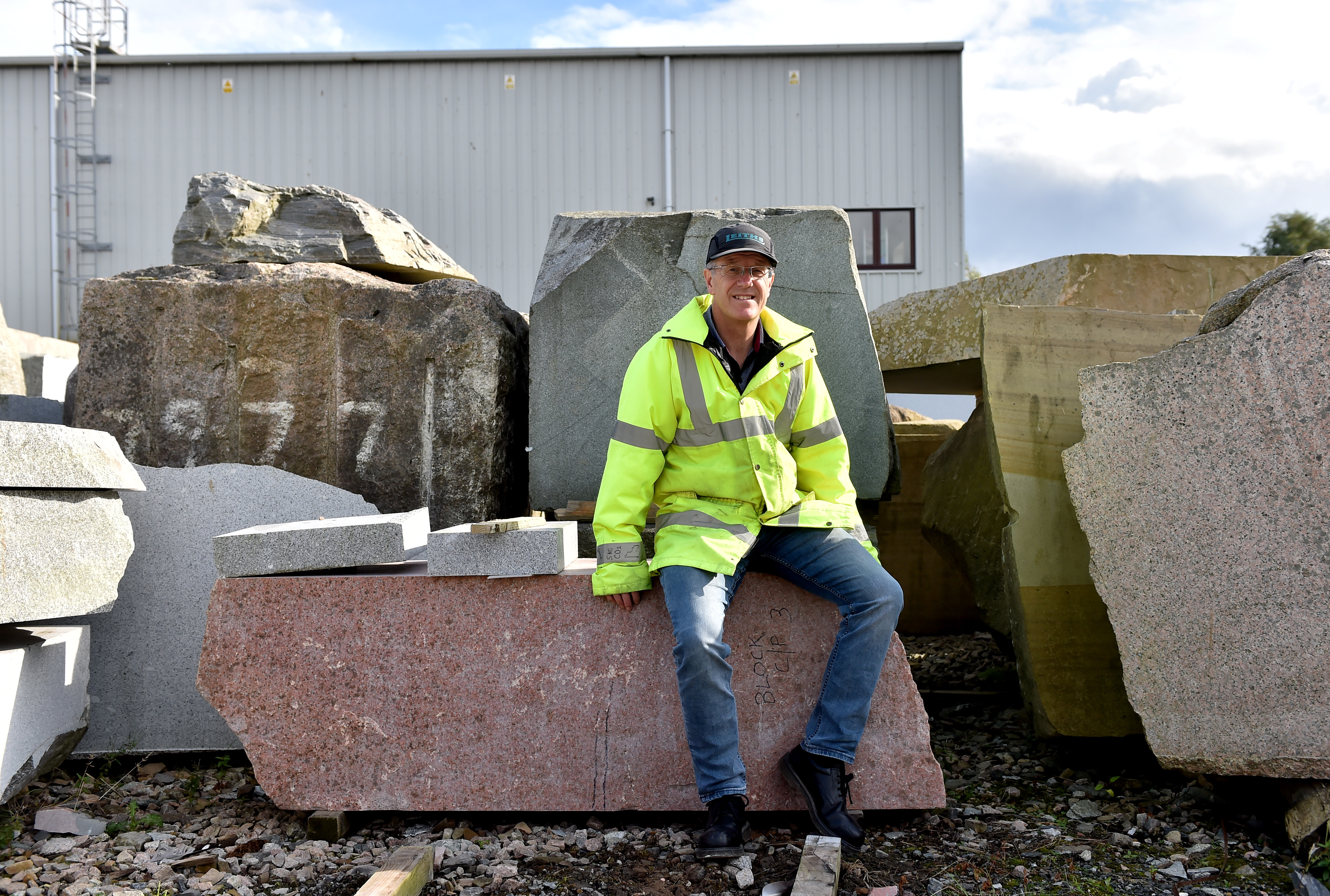 Richard Collinson at the Fyfe Glenrock factory.   Picture by Scott Baxter