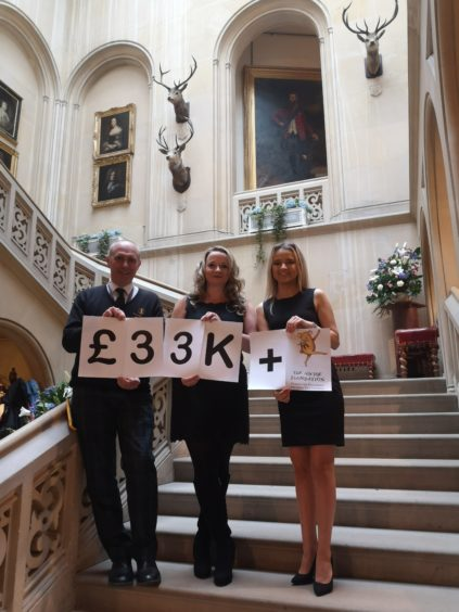 Hundreds took part in the event to raise the incredible total
