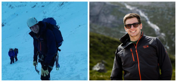 Aidan Robinson and James Laing from Kinlochleven's Ice Factor are attempting two grueling challenges as part of the Skyline Scotland series