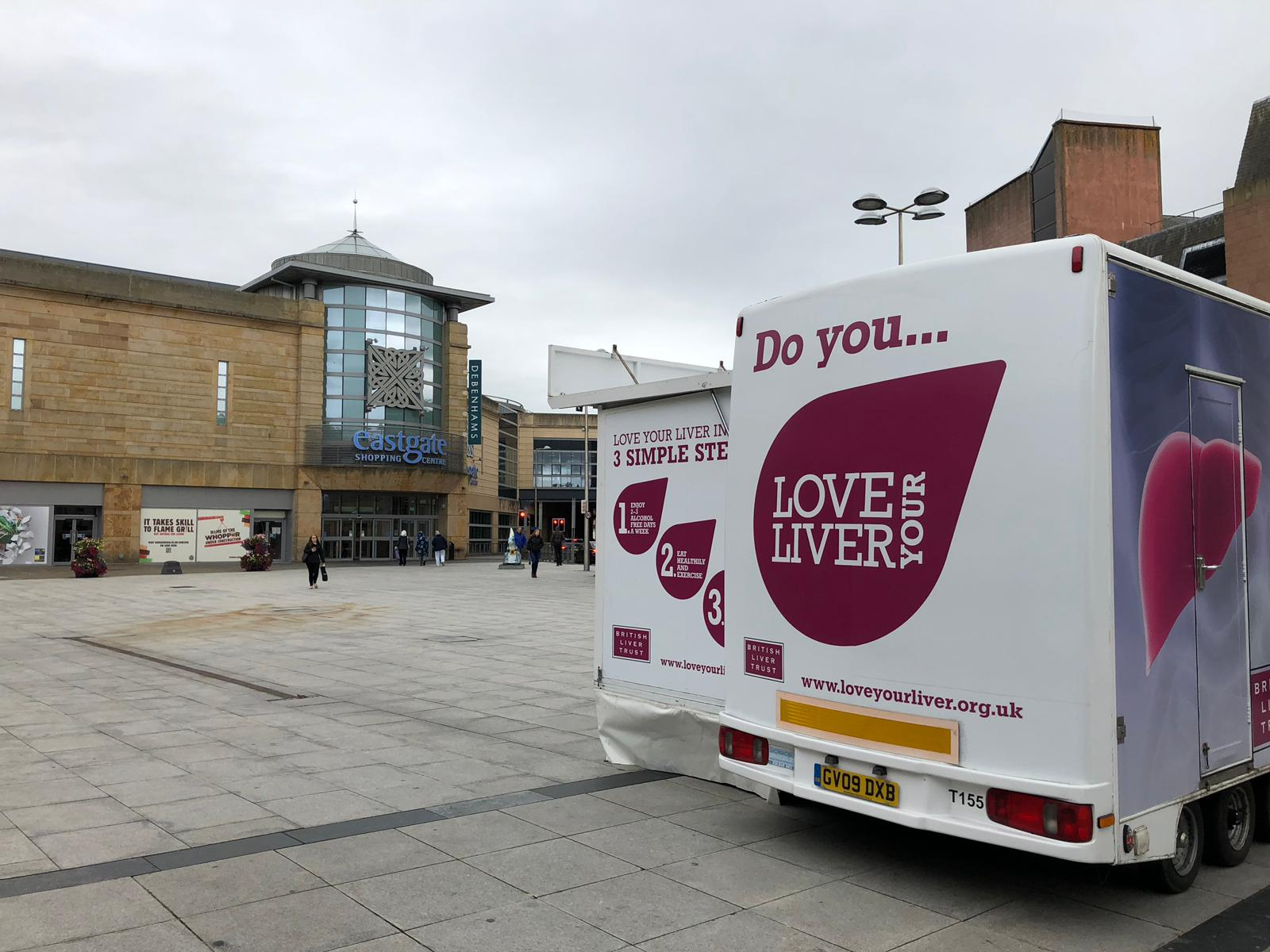 The Love Your Liver mobile unit visited Inverness' Falcon Square on Saturday where the shocking revelation was discovered.