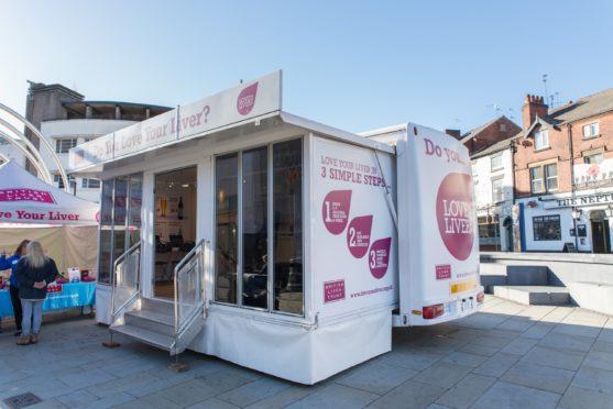 Love Your Liver mobile unit will be in Falcon Square this Saturday.