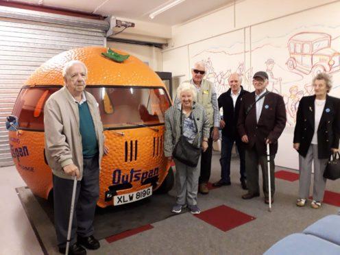 Veterans enjoying the museum visit.