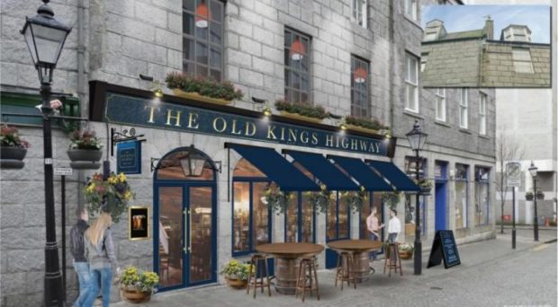 An artist's impression of the refurbished Old Kings Highway pub on The GREEN