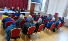 Banff and district Community Safety Group held a meeting at Buchan Street Hall to discuss what they can possibly do to try to reverse the decision to close the Chalmers Hospital MIU overnight. Picture by Chris Sumner