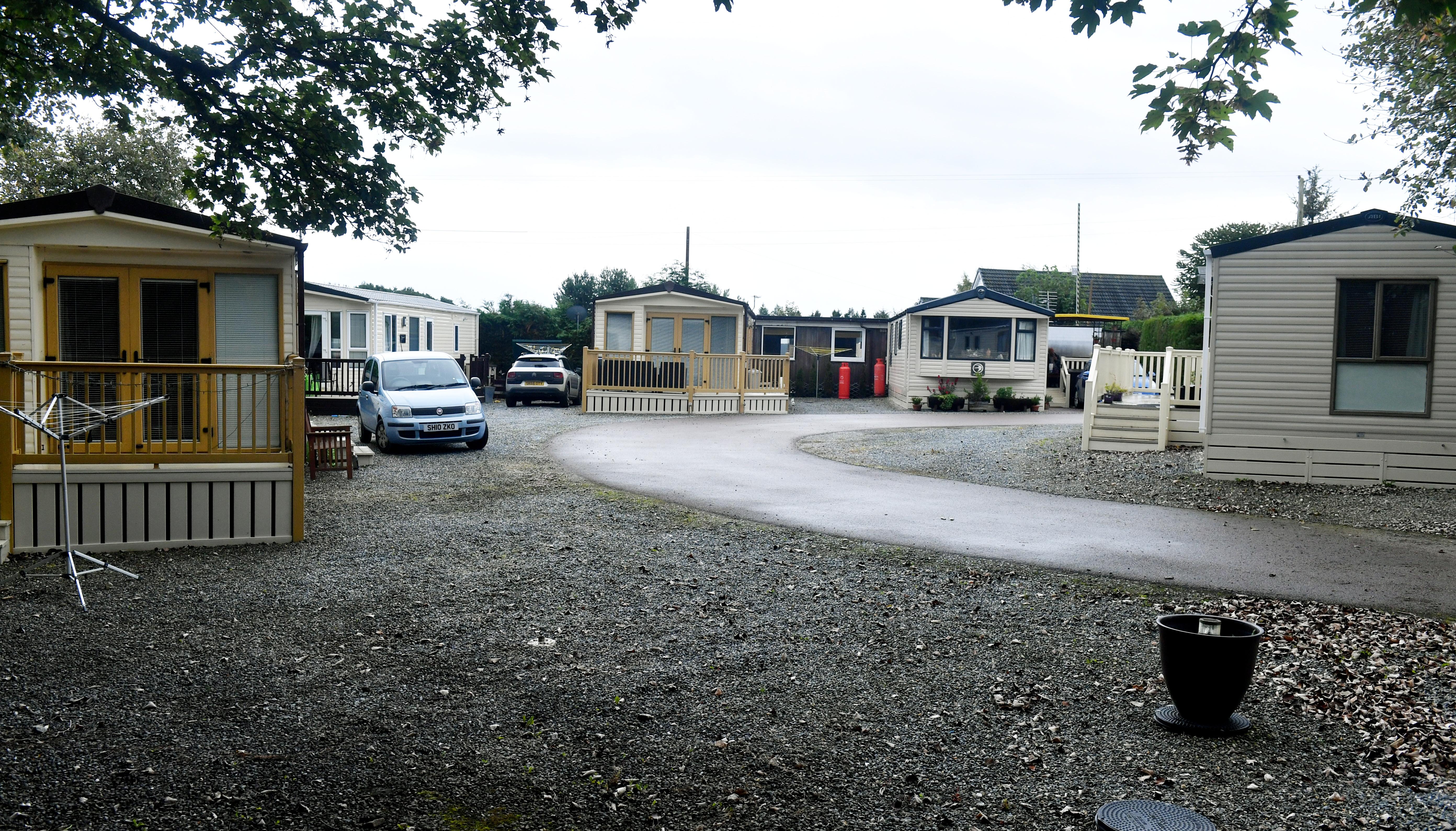 Locator of Hillhead Caravan Park in Kintore.