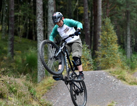Monty Palmer, 10 on the current trail at Aboyne Bike Park. Picture by Darrell Benns