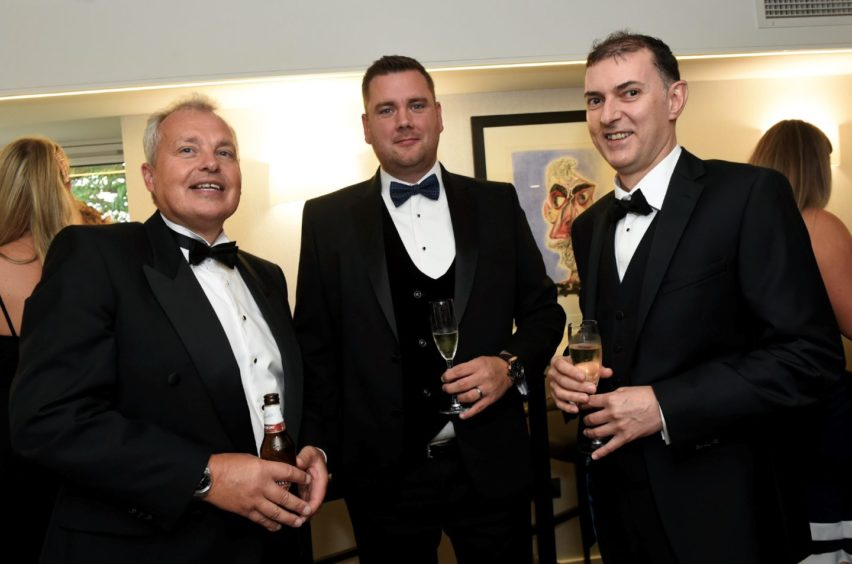 Pictured from left, Bob Bryce, Roddy Brown and John Taylor.  Picture by HEATHER FOWLIE