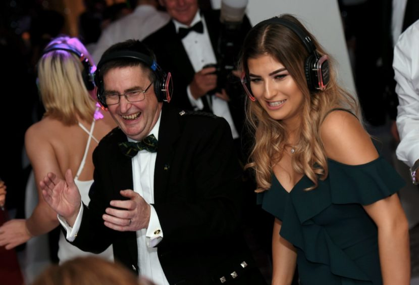The silent disco.  Picture by HEATHER FOWLIE
