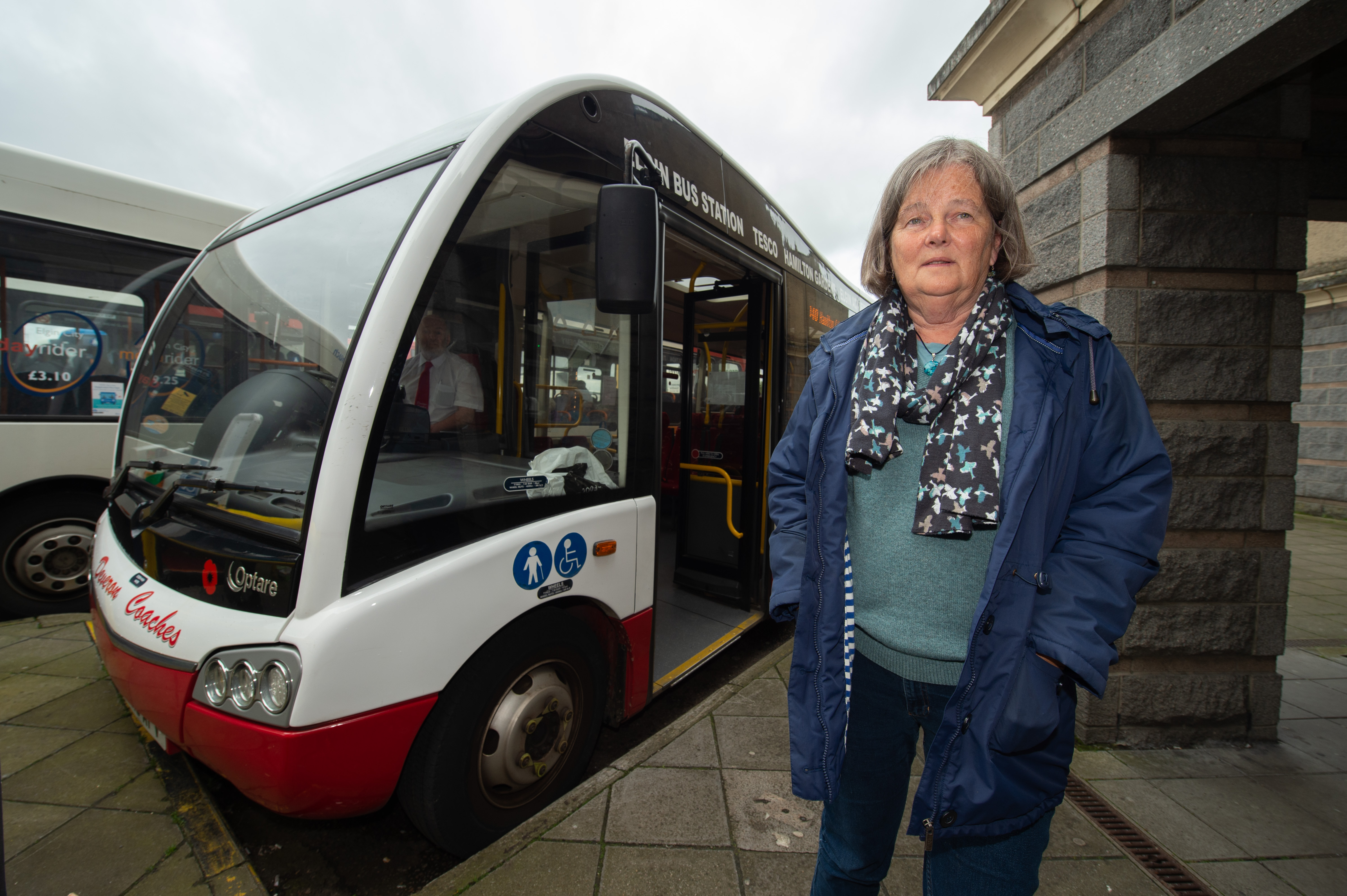 Regular bus passenger Sara Marsh is fighting for the 340 service in Elgin to be saved.