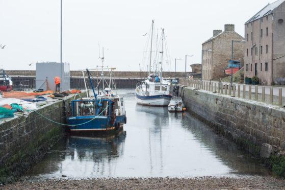 Burghead Harbour.