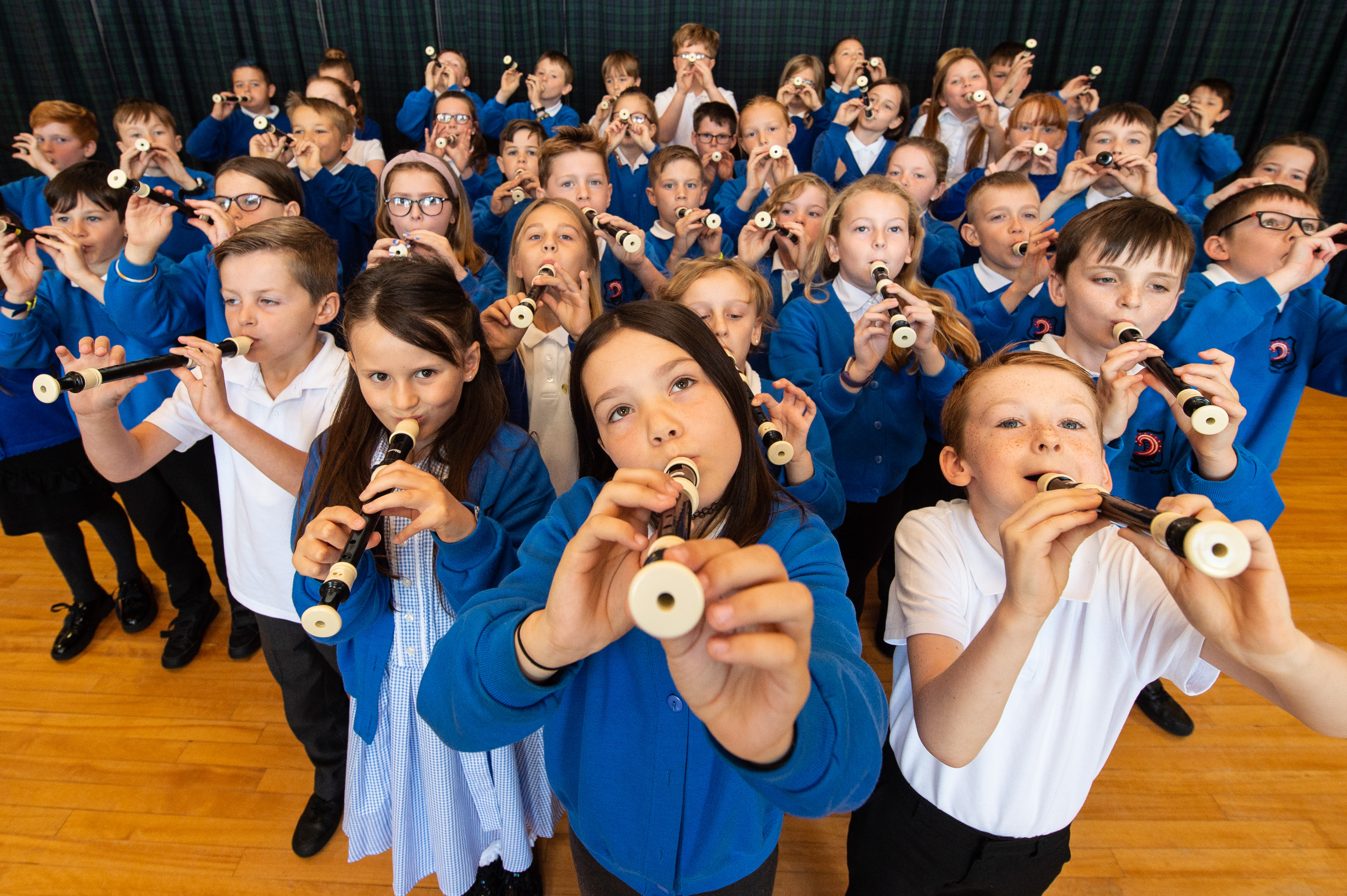 Hythehil Primary School pupils are learning the recorder.
