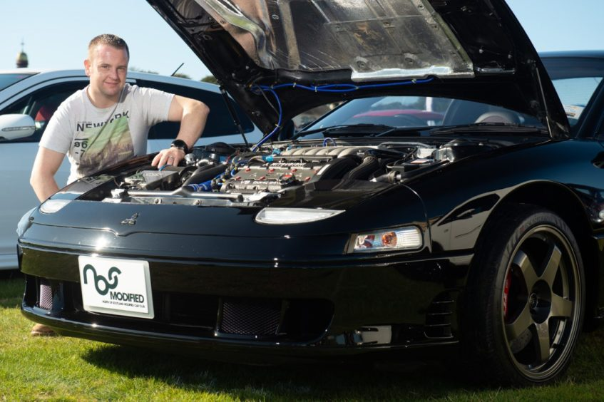 A Mitsibushi GTO twin turbo owned by Daniel Thompson from Nairn.  Picture by Jason Hedges