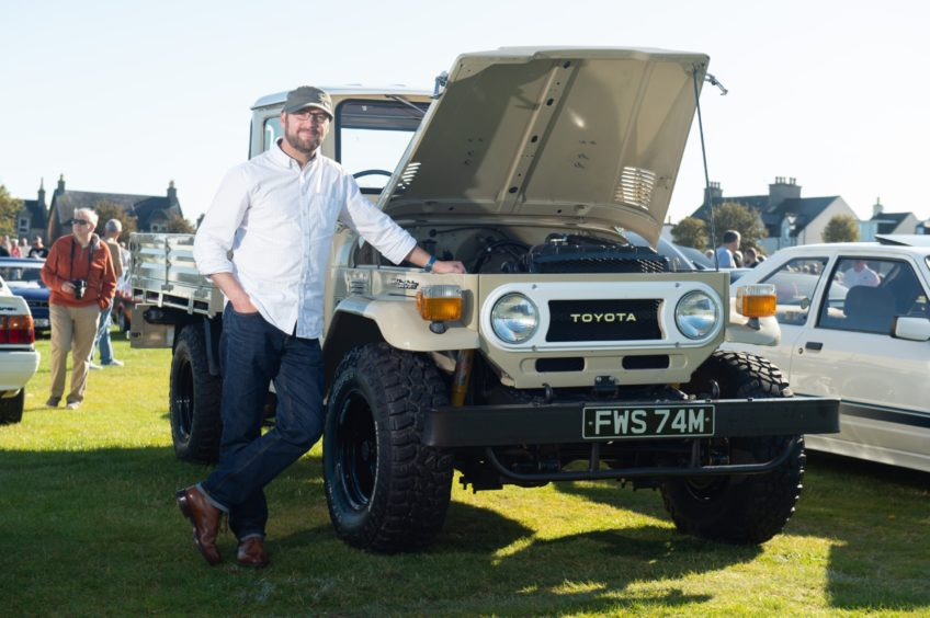 A 1974 Toyota Landcruiser Model FJ45 and owner Kenny Moran  Pictures by JASON HEDGES