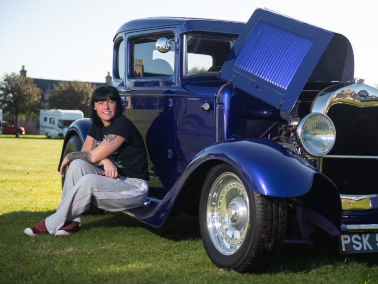 Nikki Graham from Avoch with her Model A Ford 1928 to 1930 bulit by her dad. Picture by Jason Hedges.