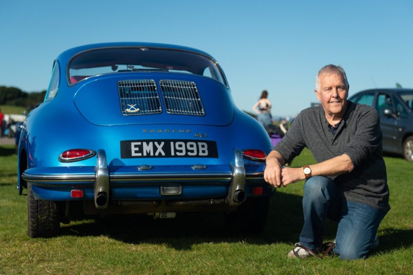 A 1964 Porsche 356 SC 1964 and its owner, Richie Ubych from Tain Pictures by JASON HEDGES