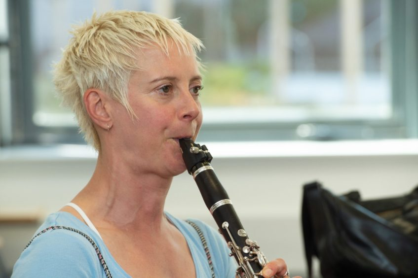 Scottish Symphony Orchestra's Joanna Nicholson on clarinet Pictures by JASON HEDGES