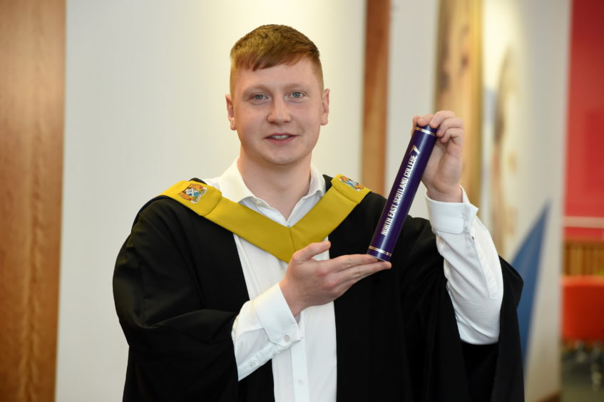 Alex Bowie of Portsoy - HNC Electrical Engineering  Picture by KENNY ELRICK