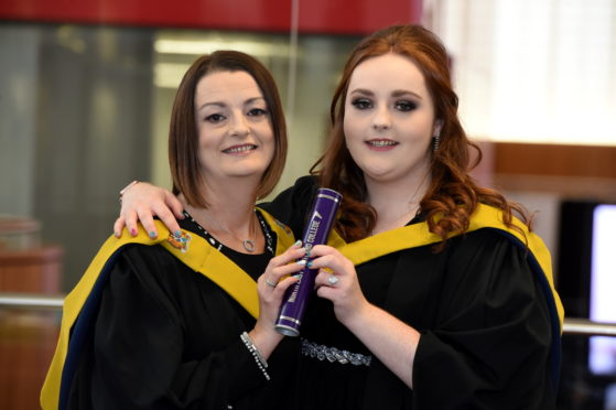 Mother and daughter Elaine Anne Milton and Amber Watt from St Combs. Pictures by Kenny Elrick.