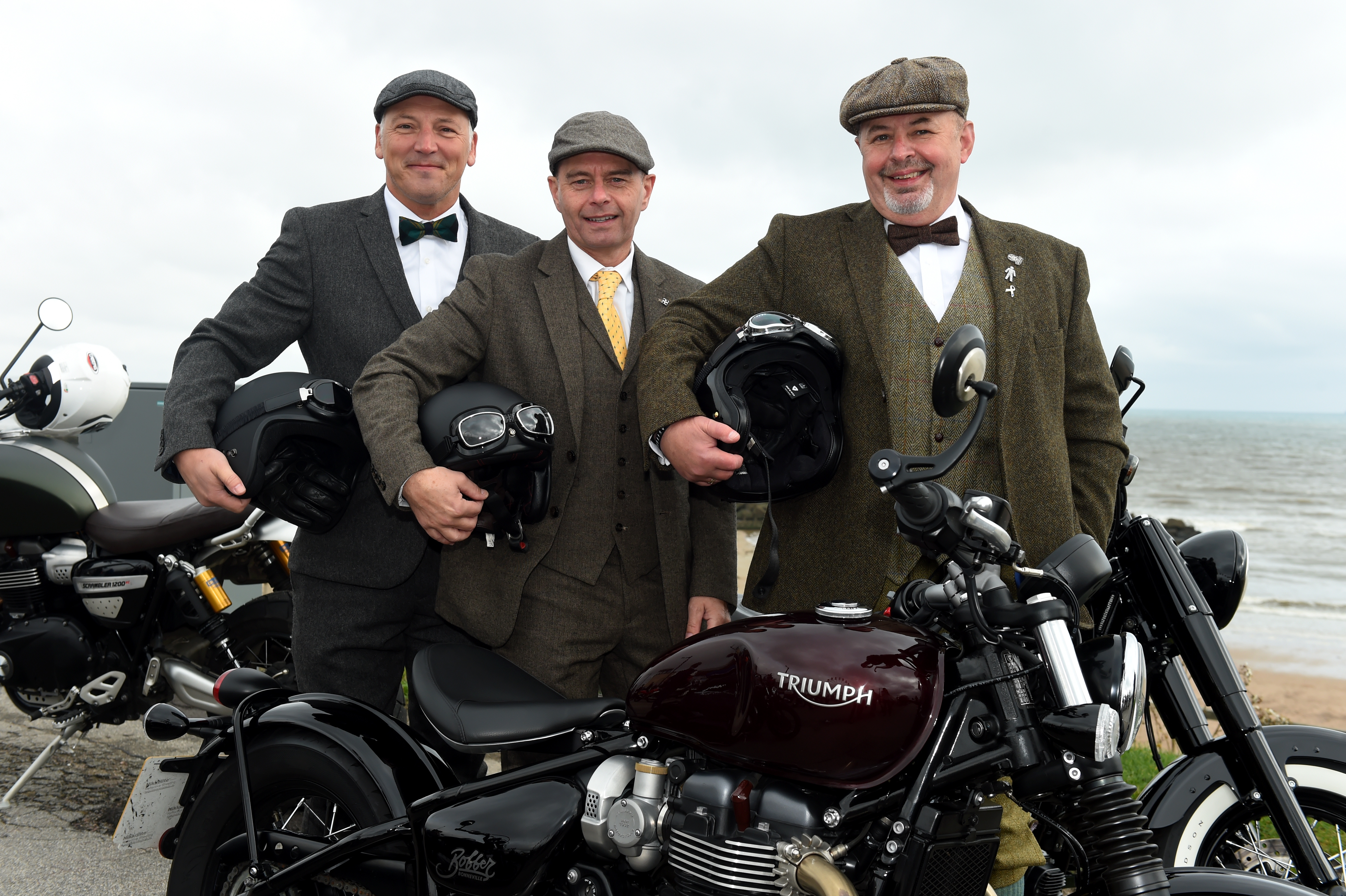 Mark Watson, Ray Taylor and Kenny Day. Picture by Kenny Elrick.