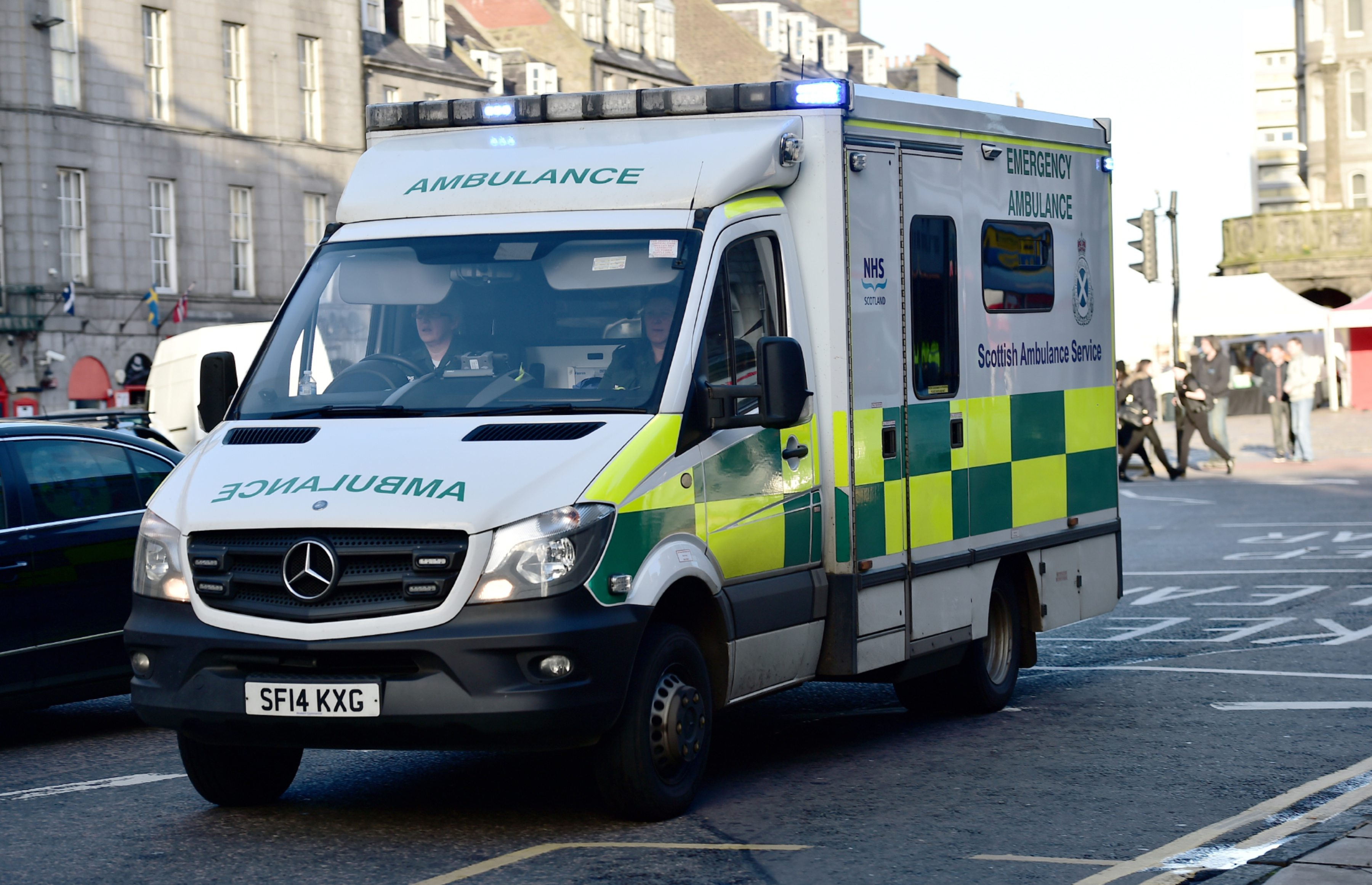 An ambulance was stolen from a property in Kemnay
