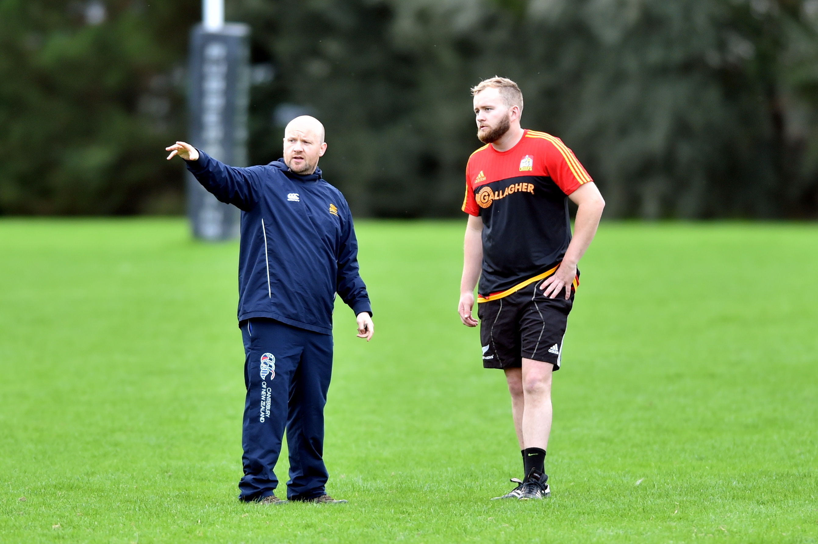 Gordonians head coach Ryan Morrice, left.