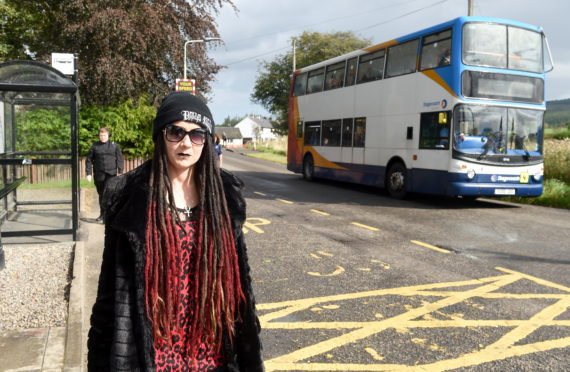 Chloe Hardy who, along with other villagers of Kiltarlity , have concerns over their village bus connections. Picture by Sandy McCook.