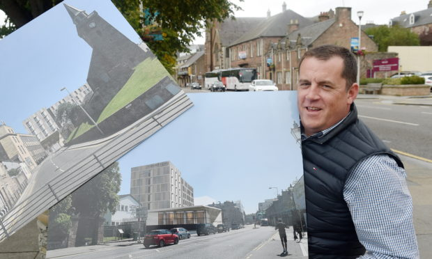 Allan Davidson, chief operating officer of Bricks Group, with the original plans of the new hotel project