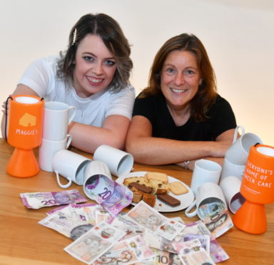Hayley Paterson, left with Paula Cormack the centre fundraising manager for Maggie's Centre