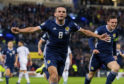 John McGinn in action for Scotland