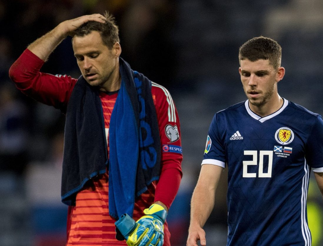 Scotland's David Marshall and Ryan Christie