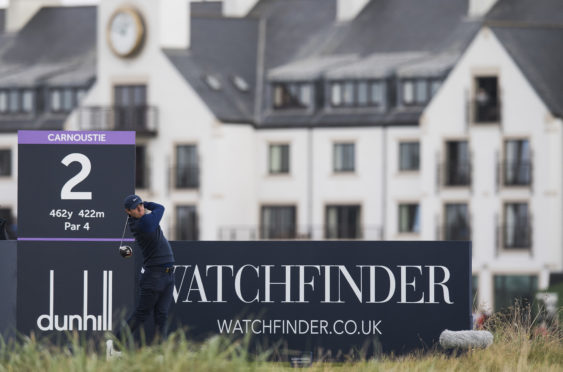 Rory McIlroy during day one of the 2019 Alfred Dunhill Links Championship at Carnoustie Golf Links. (Photo by Ross Parker / SNS Group)