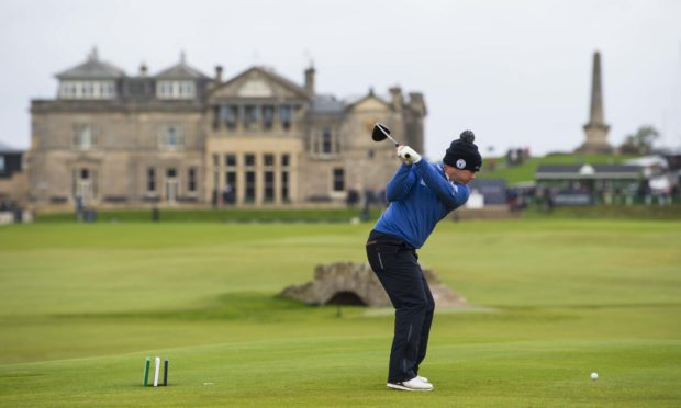 Richie Ramsay during the fourth day of the Alfred Dunhill Links Championship at St Andrews. (Photo by Ross Parker / SNS Group)