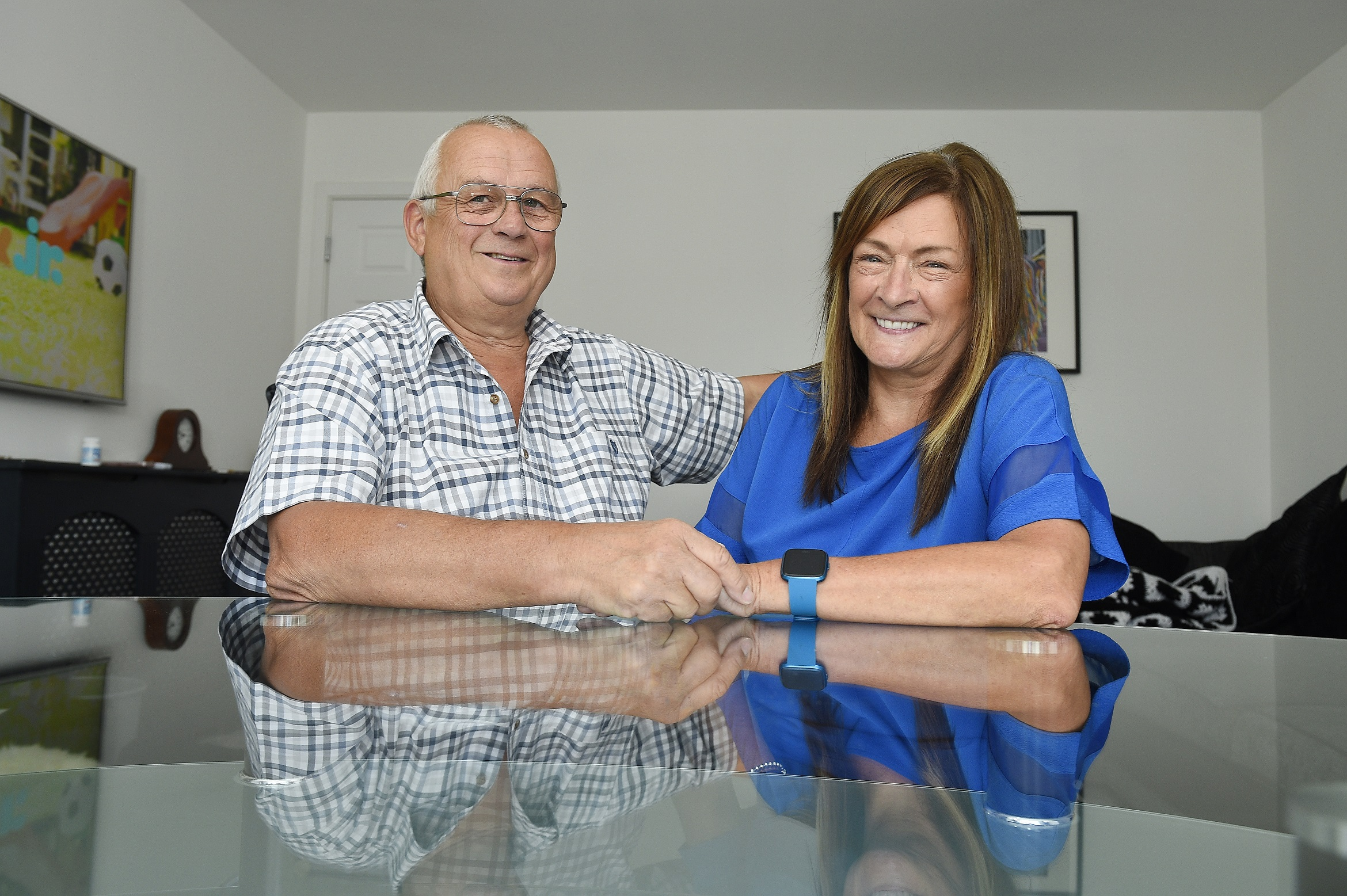 Jackie and Steve Hugill to support Detect Cancer Early campaign.