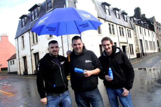 Hit Western Isles trio Peat and Diesel helped launch the new Top Up Tap