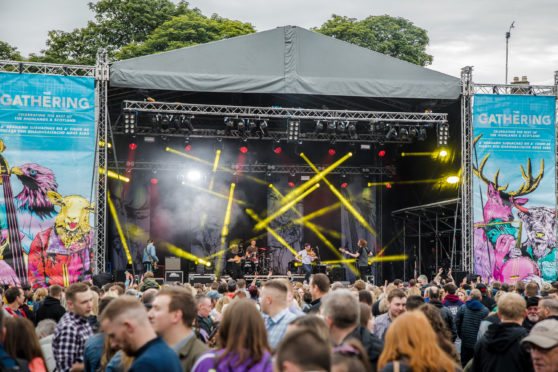 The Gathering Festival 2019. Inverness, Northern Meeting Park.
