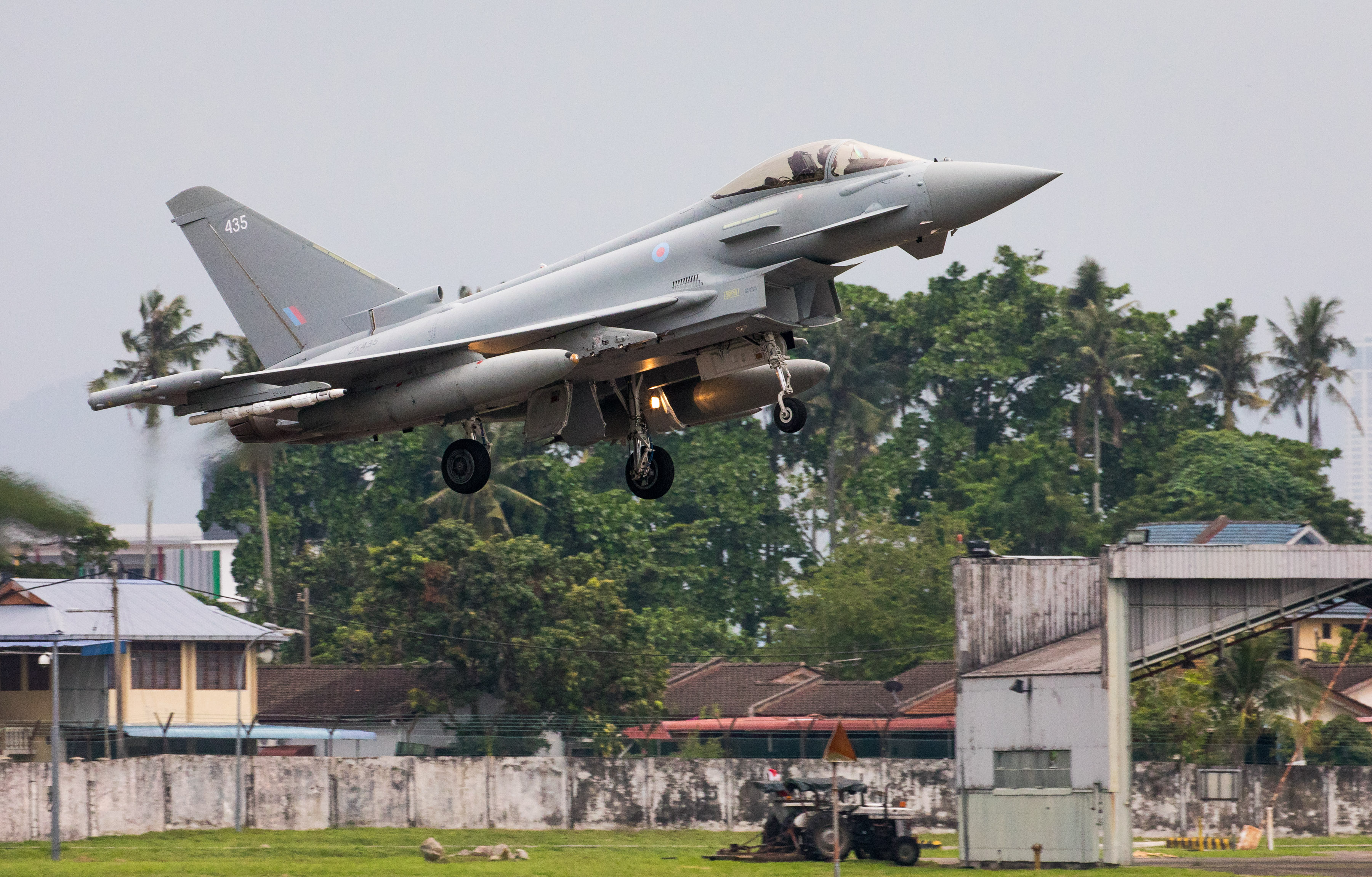 A Royal Air Force Typhoon lands at RMAF Butterworth, Malaysia, in order to participate in Exercise Bersama Lima 19.  Royal Air Force (RAF) Typhoon aircraft and personnel from II (Army Co-Operation) Squadron, RAF Lossiemouth, have deployed to Royal Malaysian Air Force (RMAF) Butterworth in Penang, Malaysia, in order to participate in Exercise Bersama Lima 19.  BL19 is an annual Five Powers Defence Arrangement (FPDA) Maritime/Air Field Training Exercise (FTX) and Joint Command Post Exercise (CPX) conducted to enhance the operability and mutual co-operation among the FPDA nations.  The Ex is sponsored on a rotational basis between the armed forces of Malaysia and the Republic of Singapore and facilitated by HQ Integrated Area Defence System (IADS).  The Ex also aims to develop the integration of Air, Maritime and Land forces to promote interoperability whilst exercising FPDA combined and joint doctrines at the tactical and operational levels.