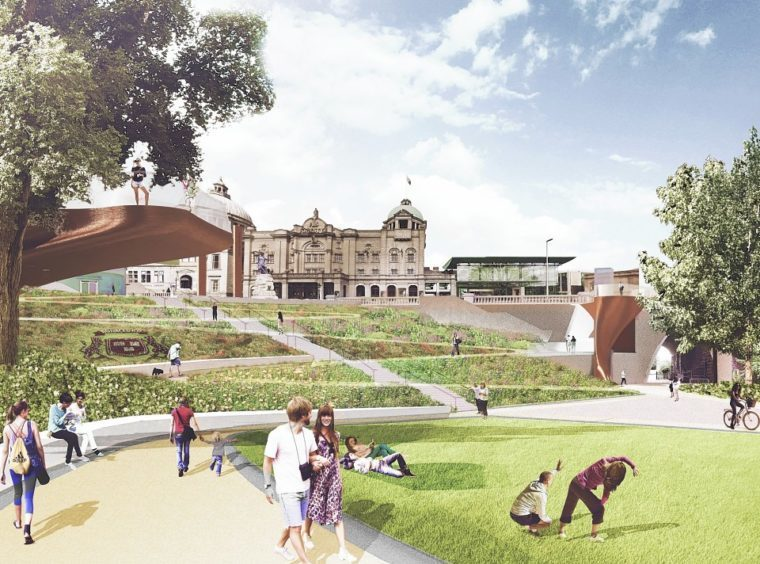 Artist impressions of Union Terrace Gardens