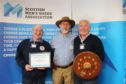 Aberderchirder District Men's Shed - L-R James Paterson Derek Keiller and Mike O'Brien