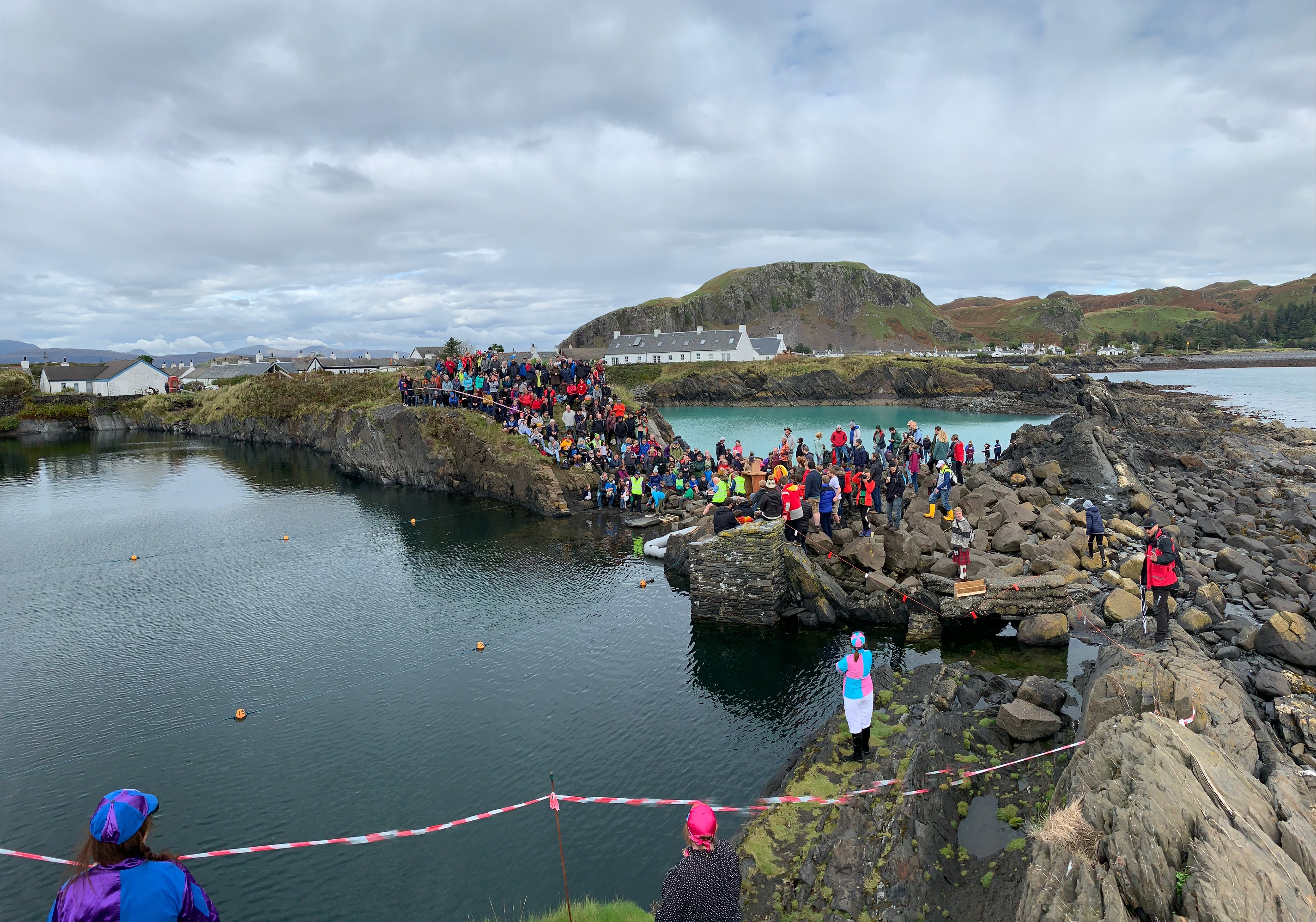 Hundreds gathered at the World Stone Skimming Championships in Easdale yesterday