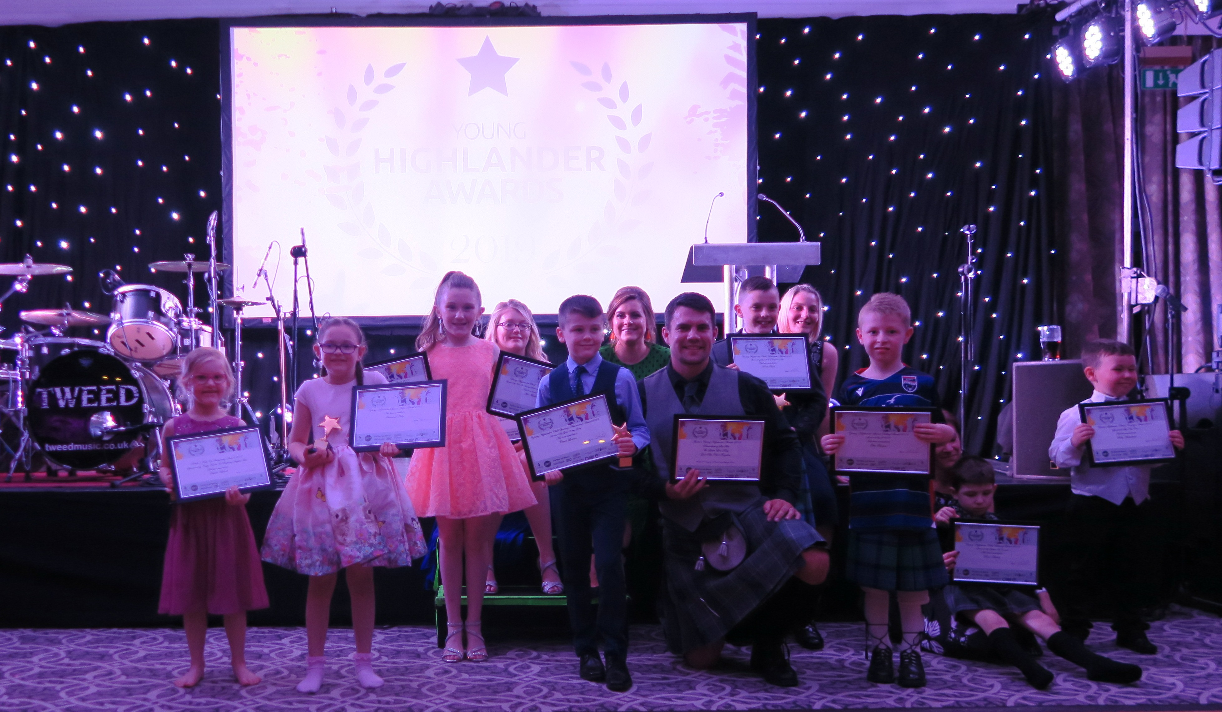 The recipients of Amelia's Young Highlander Awards