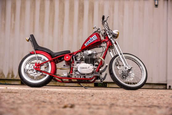 Gordon Cruden built this Yamaha XS 650 as one of the prizes for a north-east addiction charity prize draw