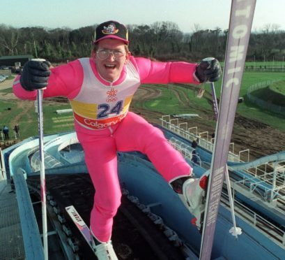 British Olympic ski jumper Eddie 'The Eagle' Edwards